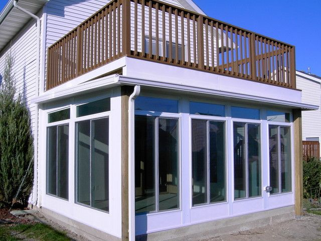 147 best images about under deck ideas on pinterest for Second floor sunroom