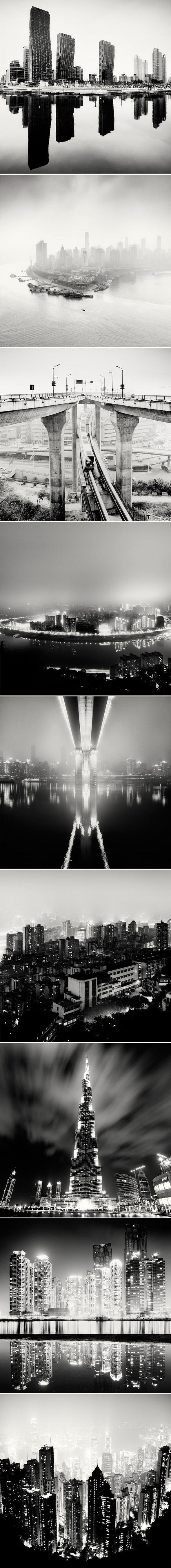 Photographies en noir et blanc de Martin Stavars    Martin Stavars est un photographe Anglais dont le travail sur les paysages s'est focalisé sur les villes tout autour du monde avec des projets comme « Nightscapes » ou « City of Fog ».