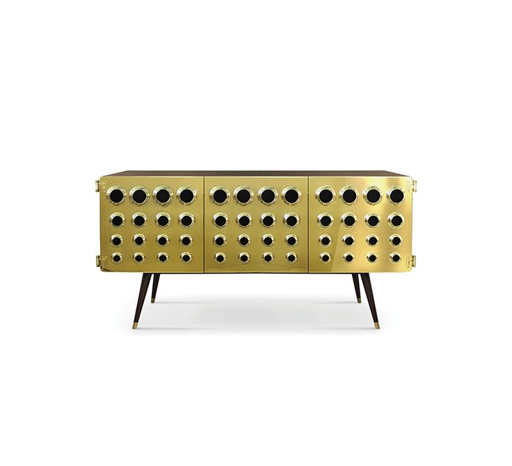 Monocles Sideboard | Essentials Home Mid Century  | Furniture Ideas & Inspiration | Home Furniture Ideas | Inspire yourself with Boca do Lobo | Find all in www.bocadolobo.com/en Furniture