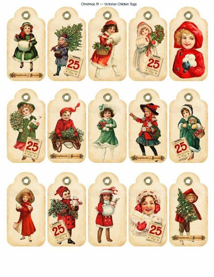 Imprimolandia: Etiquetas de Navidad vintage