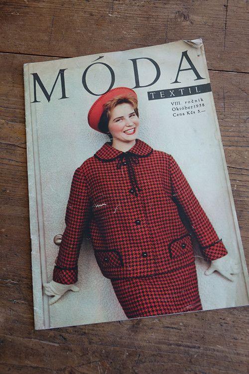 Móda, textil ... 10/1958 ... slovensky