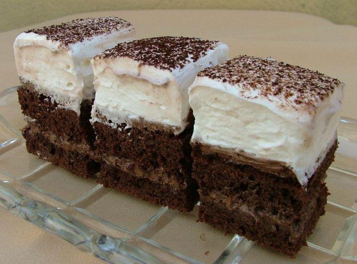 Čokoládovo – šľahačkový zákusok