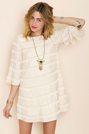 Fringe: Blushing Fringe, Fashion, Fringe Dress, Style, Clothes, Cute Dresses, Fringes, Hair Length