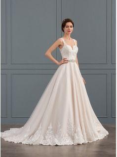 dc446508b3da Balklänning Älskling Court släp Tyll Spets Bröllopsklänning med Beading  (002134390) | Dress - Klänning | Bröllopsklänning, Tyll, Bröllopsklänningar