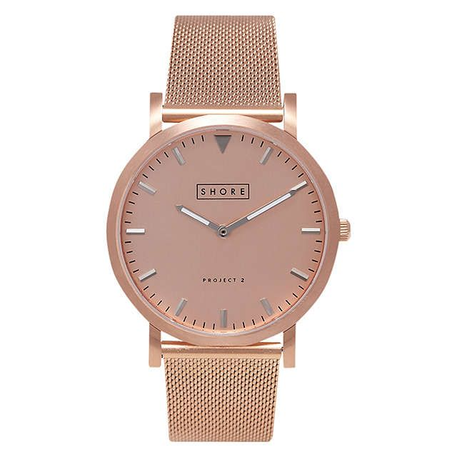 BuyShore Projects W005S021R Unisex Salcombe Mesh Bracelet Strap Watch, Rose Gold Online at johnlewis.com
