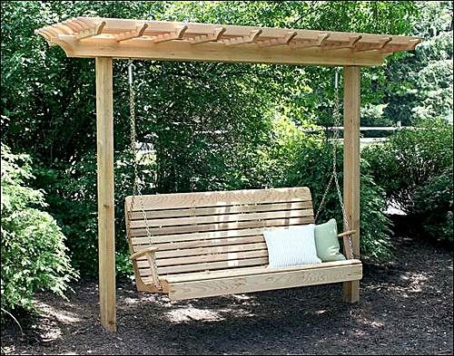 designer outdoor swing on 4x4 | ... Swing Design Suitable for Home Decor | Modern Home Design Gallery