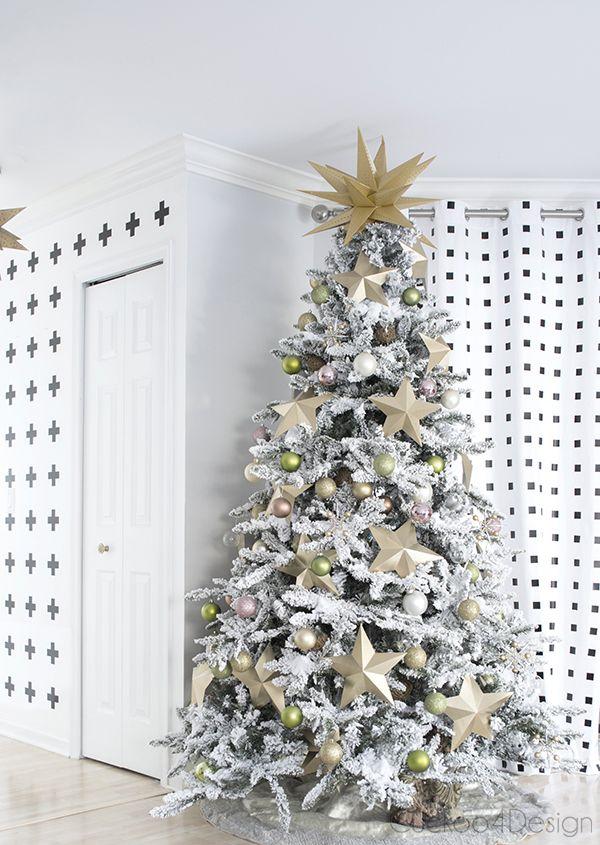 Best SEASONAL Christmas Trees Images On Pinterest Christmas - Diy copper stars for christmas decor