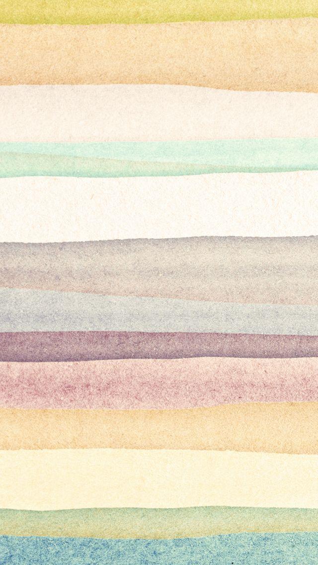iPhone 5 wallpaper - watercolor stripes #pattern