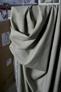 N J Covington~ Art: Study of Drapery in Clay