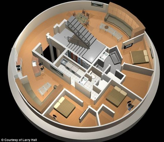 Missile silo lux survival condo. Been here.  Tested this place myself.  Definitely lives up to the hype.