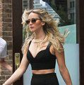 Dying to find a crop top outfit this summer!  Jennifer Lawrence's Street Style and the Crop Top Trend - Vogue