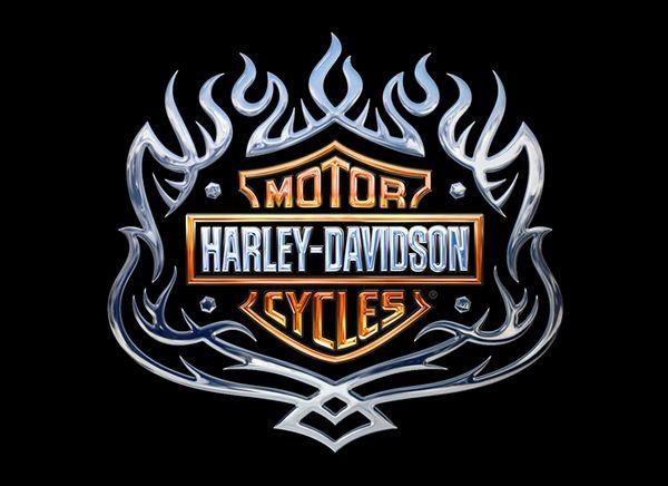Logo Harley Graphic Davidson Pink