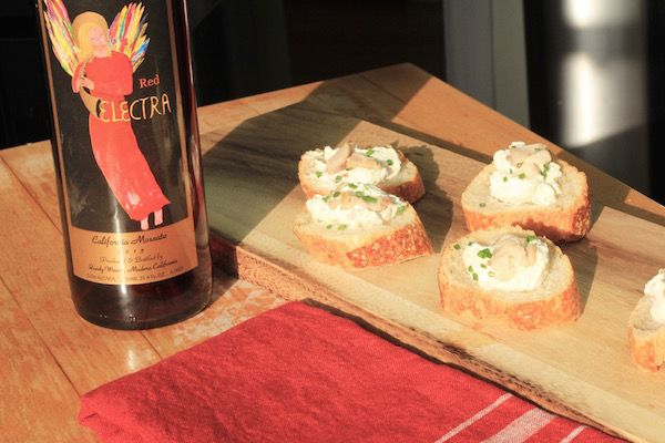 """#holidayparties The """"Pairings and Parties with Quady"""" Series has launched! Enjoy the Smoked Trout & Chive Cream Toast and Red Electra pairing at your next holiday party or make it for yourself. Print the recipe at our link below. Red Electra is a fan favorite and can be ordered online or purchased at a retail outlet near you. http://store.quadywinery.com/storefront.aspx"""