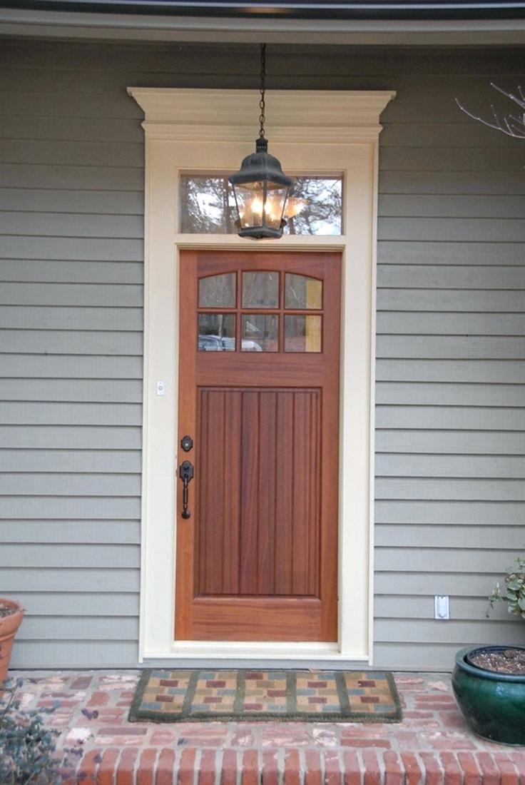 Skillful Front Door Pediment Front Door With Transom Window Above
