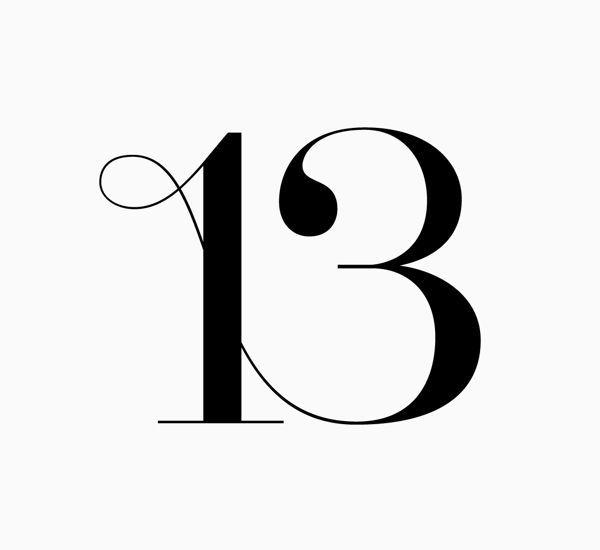 Znalezione obrazy dla zapytania different typography number 13 #NumerologyLetters
