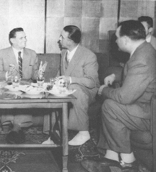 Enver Hoxha me V. Siroky kryeminister i Çekisllavakis, Tirane qershor 1957.