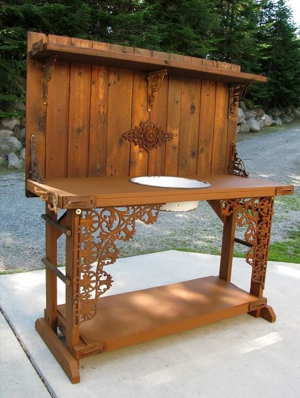 Creative Diy Potting Bench Wallace Gardens Or Use As An Out Door Buffet Fill The Tub With