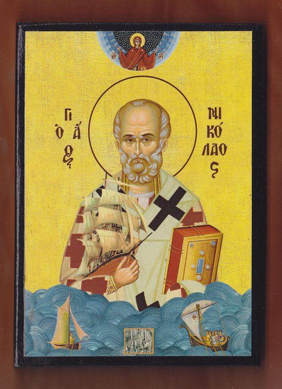 St Nicholas the Wonderworker and Archbishop of Myra in Lycia.
