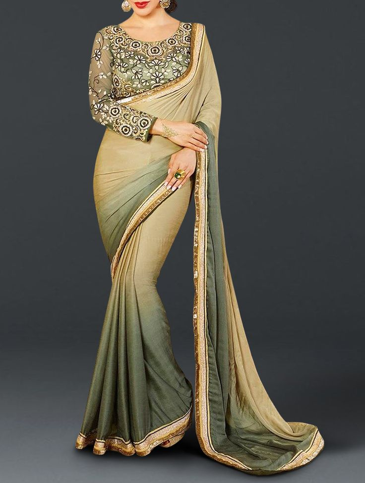 Reflect your style in these designer sarees this wedding season to grab the attention that you always want to seek. You can become center of attraction and steal the hearts away by wearing this beautiful georgette designer saree.