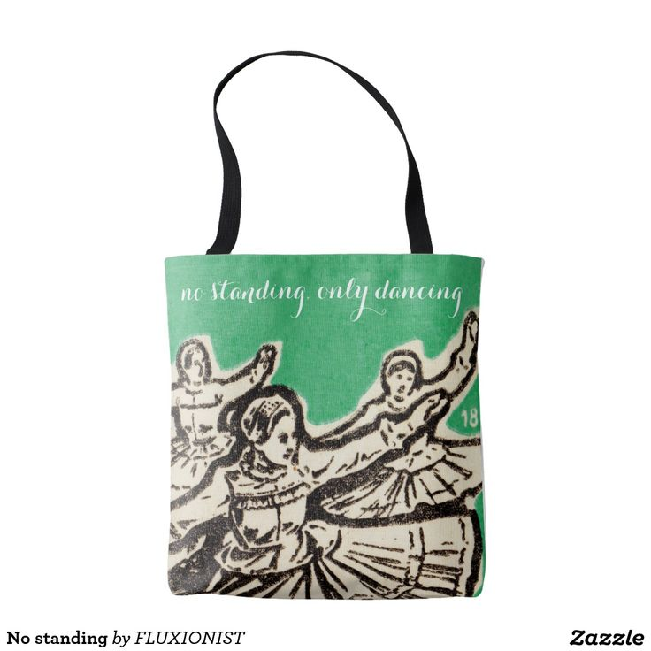 """""""No standing"""" tote bag - $19.95 Made by Manual WW / Design: Fluxionist"""