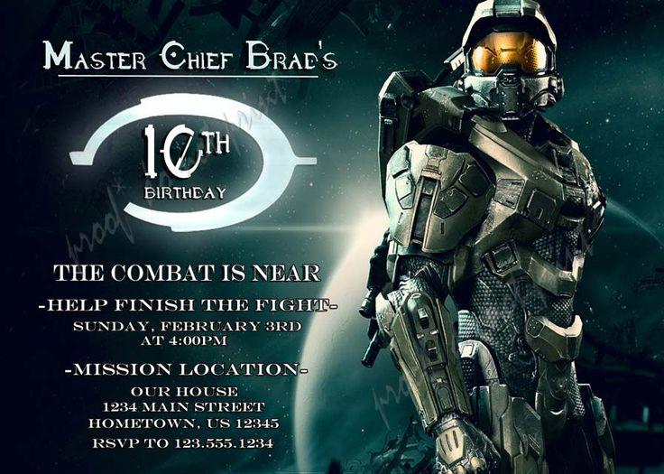 Personalized Photo Invitations   Cmartistry : Halo Armor Birthday Party Invitations - DIY Printable