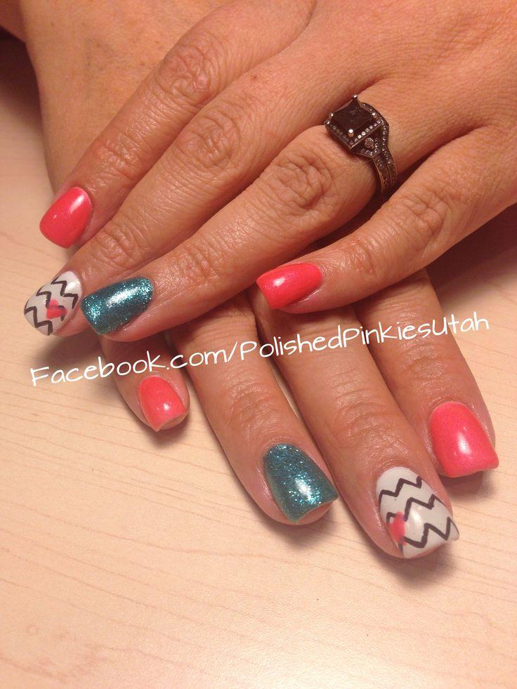nails, pretty nail art, summer nails, shellac manicure, gel nails