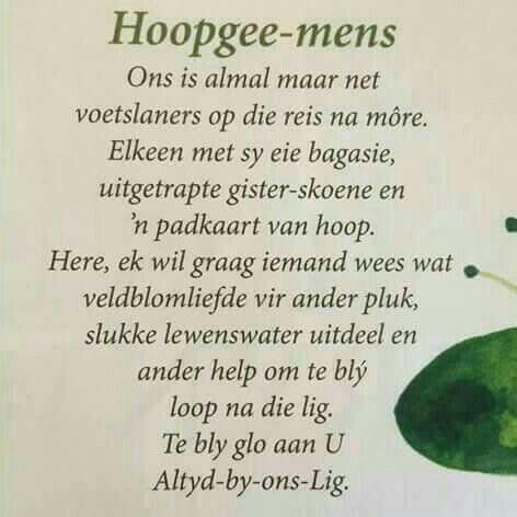 Wees 'n hoopgee-mens | Inspirasie vir tuisskool