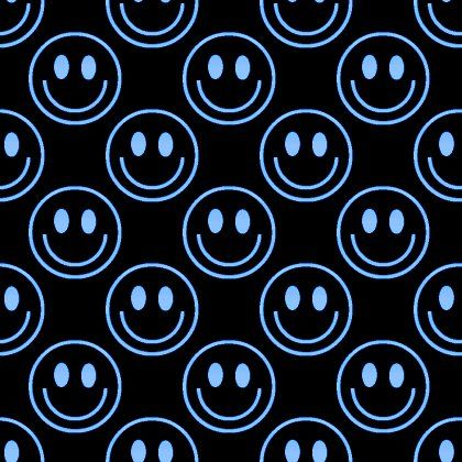 Blue Smiley Faces On Black Background Seamless Background Image, Wallpaper or Texture free for any web page, desktop, phone or blog