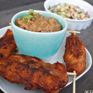 Kylling satay med peanøttsaus | Enestående Mat