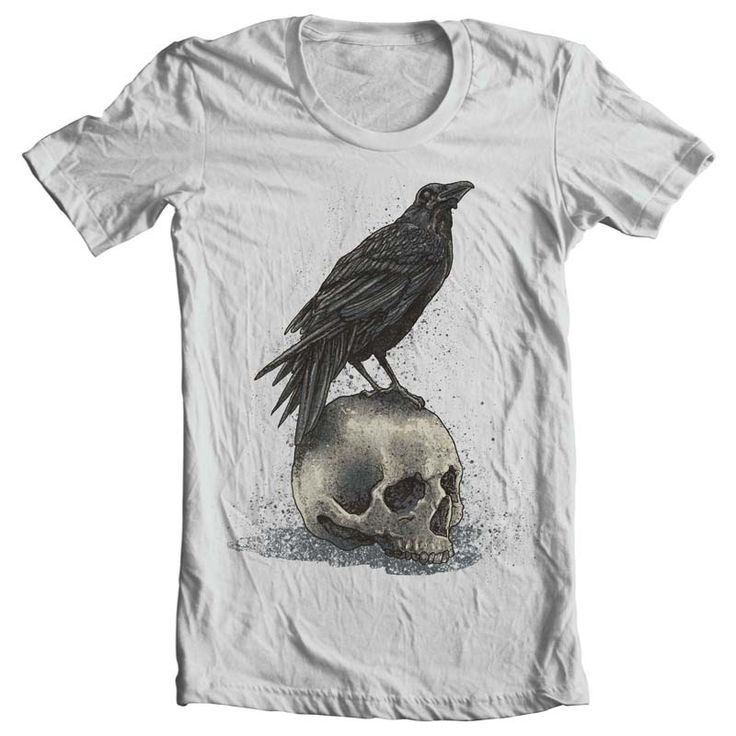Crow Skull T shirt design