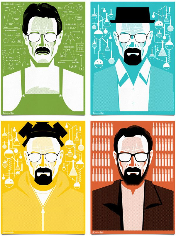 Breaking Bad Poster Illustrations by Mattson Creative #breakingbad