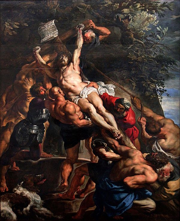 La elevación de la cruz  Peter Paul Rubens 1610