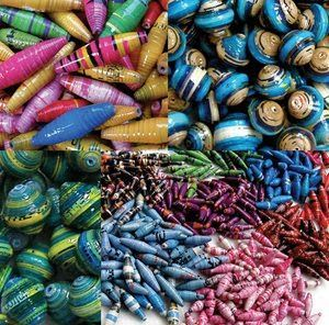 Lots of Free Jewelry Making Tutorials & Lessons: How to Make Paper Beads #Paper #Beads