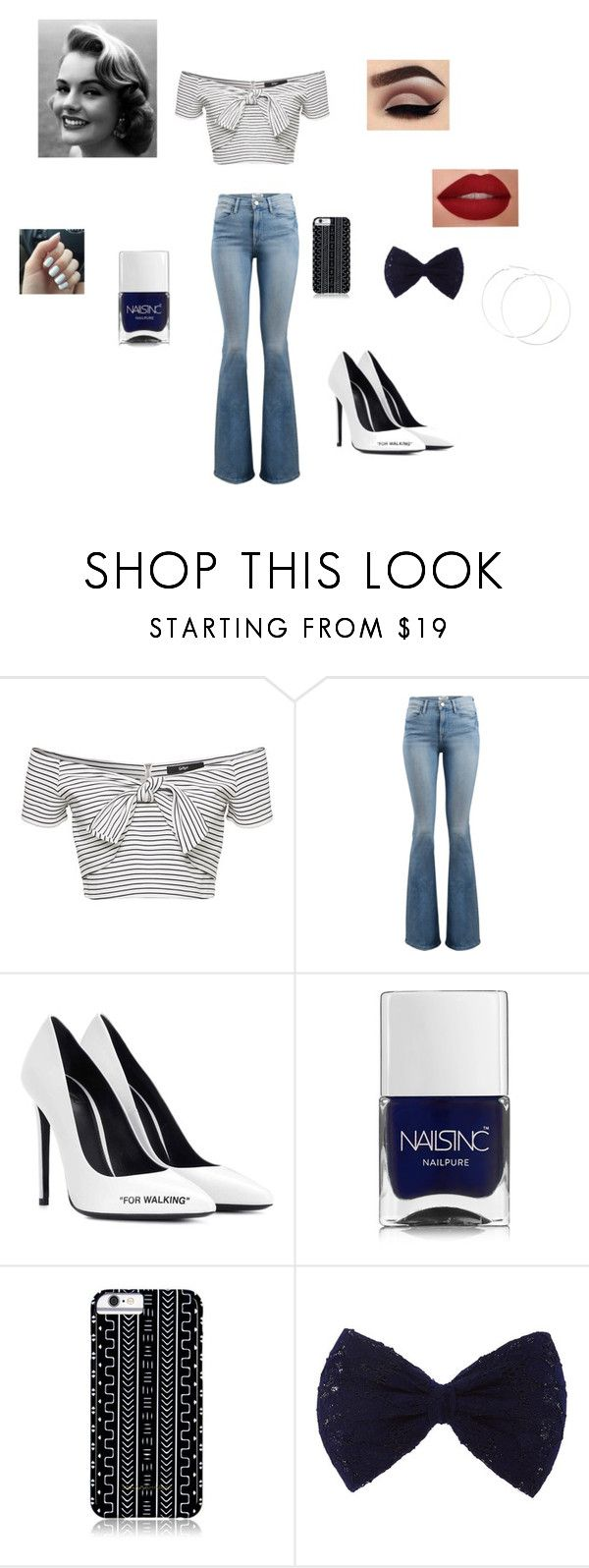 """Untitled #145"" by hannah-013 ❤ liked on Polyvore featuring Frame, Off-White, Nails Inc. and Savannah Hayes"