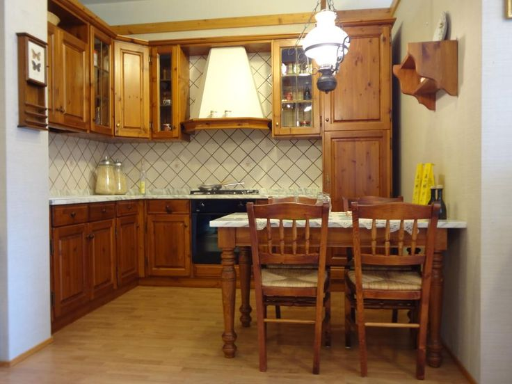 Cucina Legno Massello. Elegant Cucina In Muratura E Rovere With ...