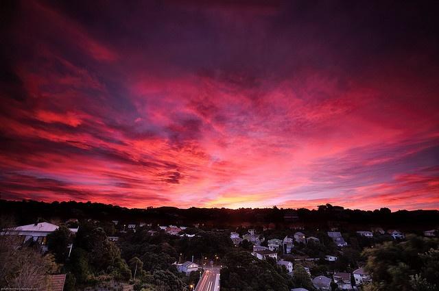 Sunset at Wellington, New Zealand