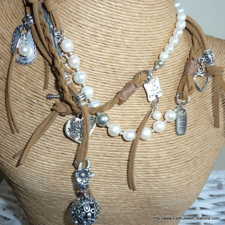 Pearl Love Wrap - handmade crystal energy gemstone jewellery Earth Jewel Creations Australia