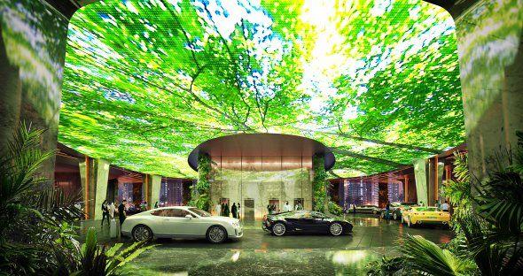 Este innovador alojamiento contará con 53 pisos y uno de ellos será un paraíso tropical con un sistema de lluvias sensorial. Cómo será por dentro
