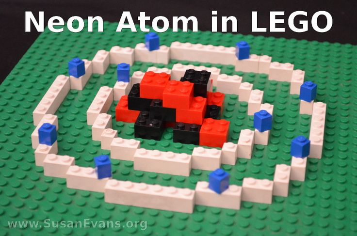 Atomic Structures in LEGO - http://susanevans.org/blog/lego-atomic-structure/