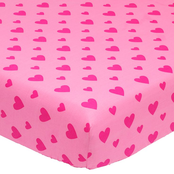 George Home Pink Heart Fitted Sheet - Single