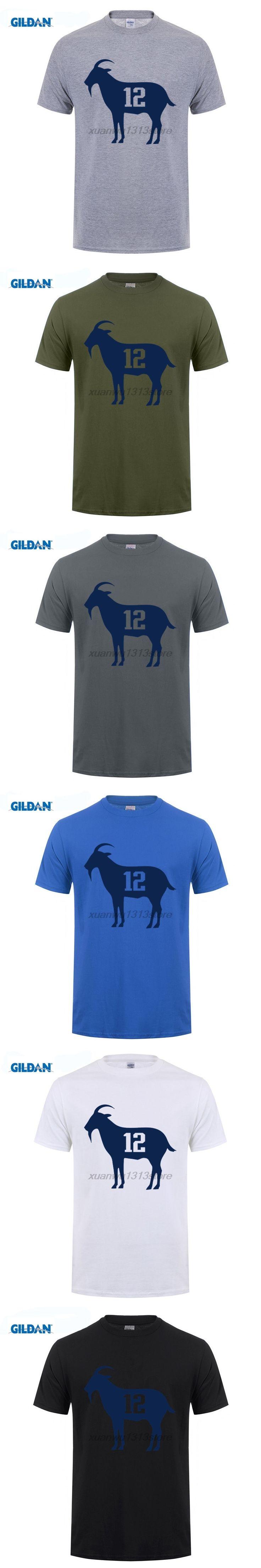 GILDAN Goat Tb12 Tom Brady T Shirt Adult Personality Tee Shirt Cool Loose T-Shirt Man Short Sleeve O Neck Graph Dad Clothing