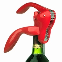 I adore my Houdini Wine Opener in Candy Apple Red. Makes me wanna open a bottle of wine just because.