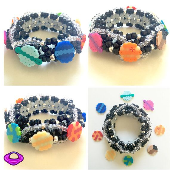 Kandi Solar System Cuff Pony Bead and Optional by PlanetPLUR
