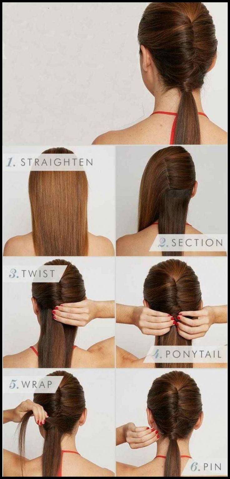 16 Simple and fast hairstyles that will make your hair look … | Frisuren Tutorials
