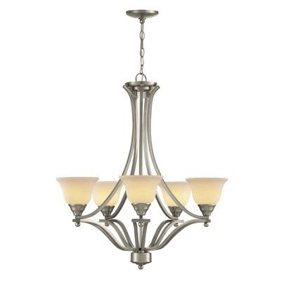 Hampton Bay - 27 In. Chandelier, Brushed Nickel Finish - CC 296/5 BN - Home Depot Canada