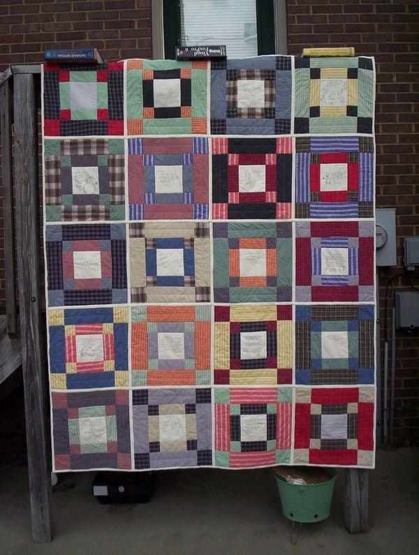 56 best images about Men's shirt quilts on Pinterest | 422, Pillow ... : quilting for men - Adamdwight.com