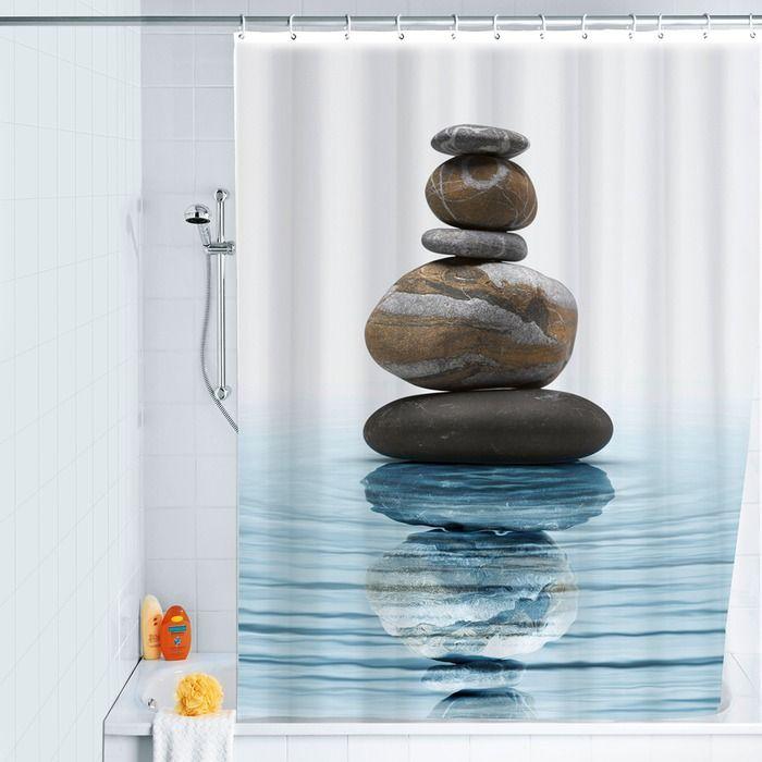 Wenko Duschvorhang Meditation 180 X 200 Cm Polyester In 2020