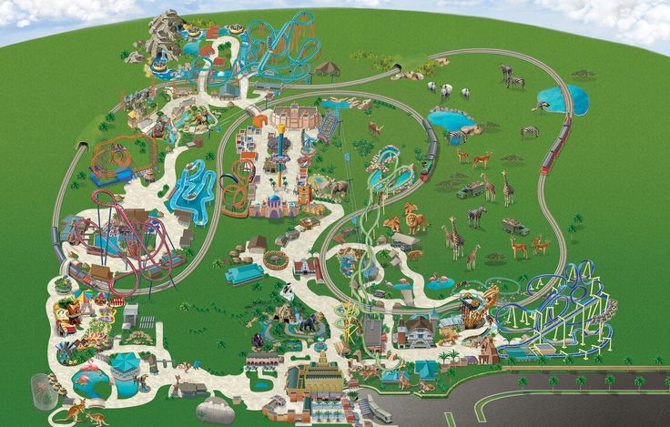 Busch Gardens Tampa Park Map 2017. Feels free to follow us