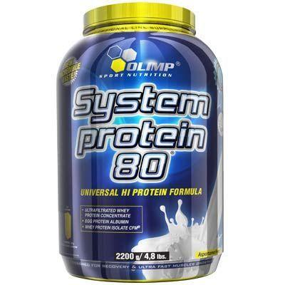 Olimp - System Protein 80 2200g wanilia. Pełnia składników budulcowych dla mięśni. #odzywkabialkowa #suplementdiety #silownia
