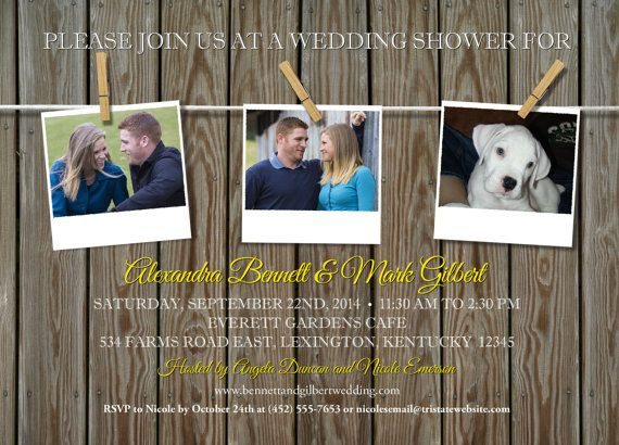 Rustic+Clothesline+3+or+4+Photo+Bridal+Wedding+by+StarStreamDesign,+$17.00